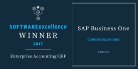 SAP B1 - Software Excellence Award Winner 2017